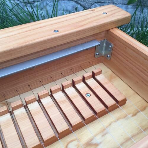 Multi-bar Soap Cutter, inside view