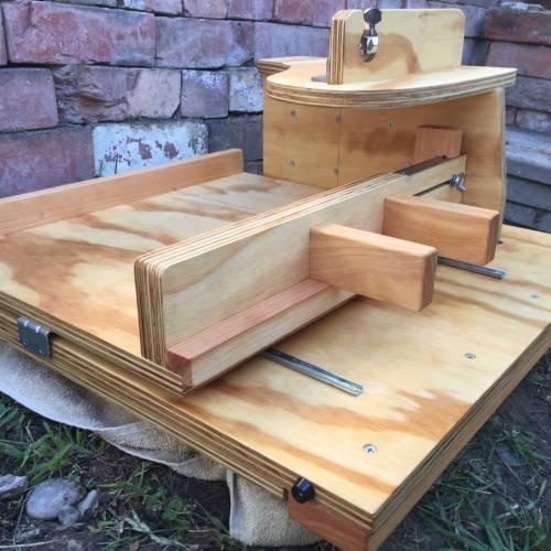 wide slab slab cutter front left