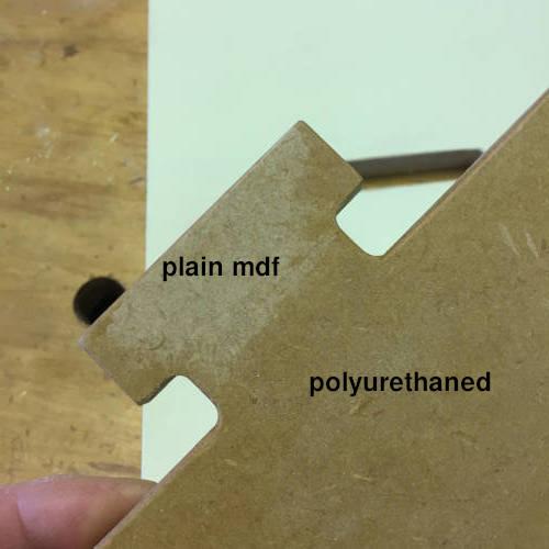 mdf plain and polyurethaned